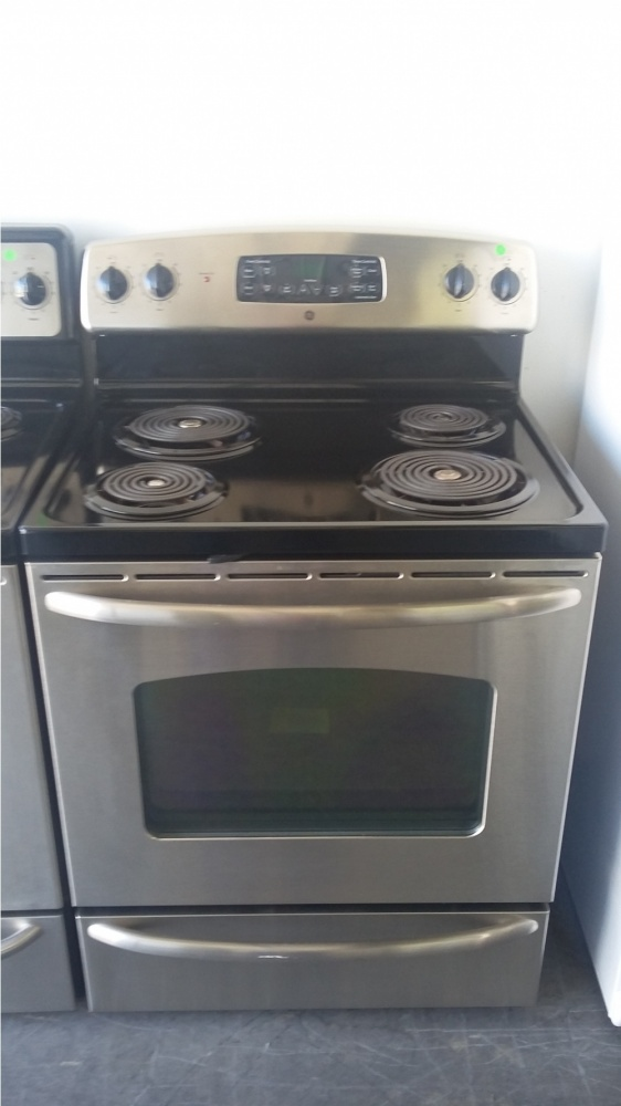 Ge 30 Stainless Steel Coil Top 220v Electric Range Out Of Stock Kimo S Liances Van Nuys
