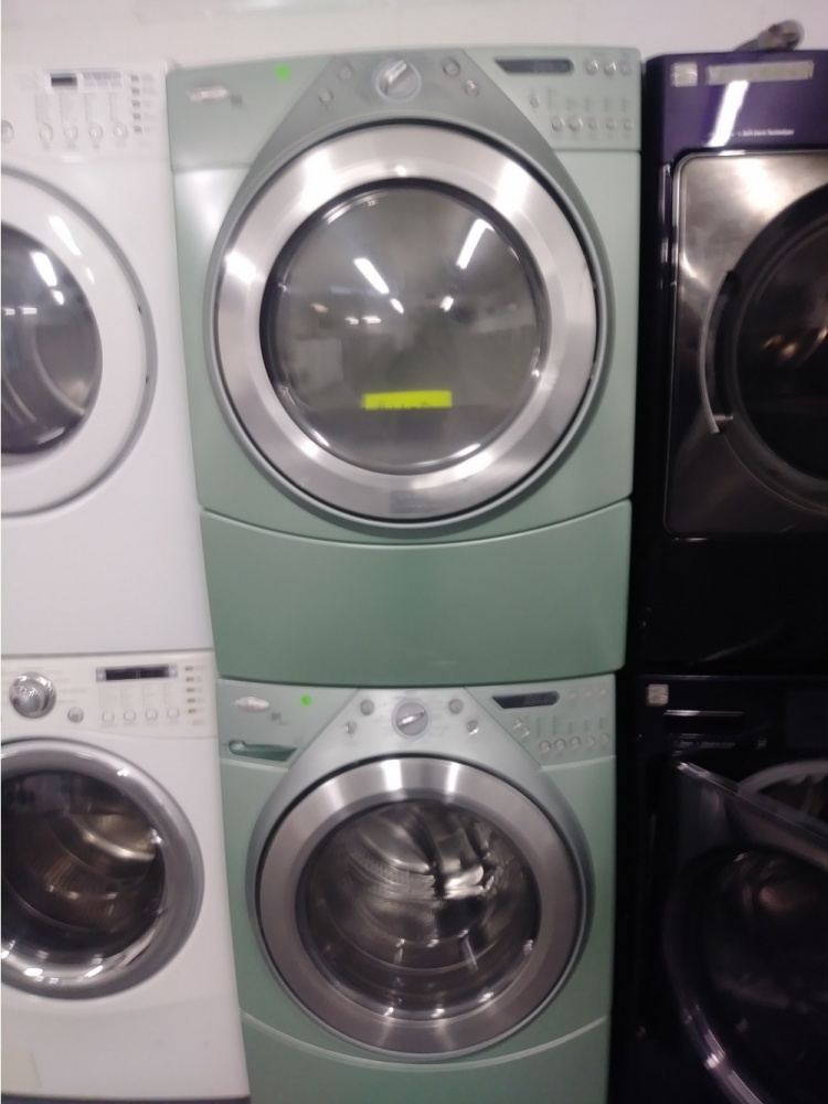 Whirlpool Duet Mint Green Front Load Washer W Gas Dryer