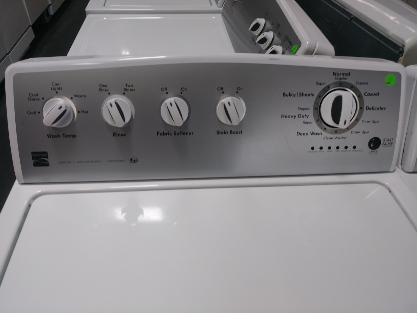 KENMORE 400 SERIES TOP LOAD HIGH EFFICIENCY WASHER W/ GAS