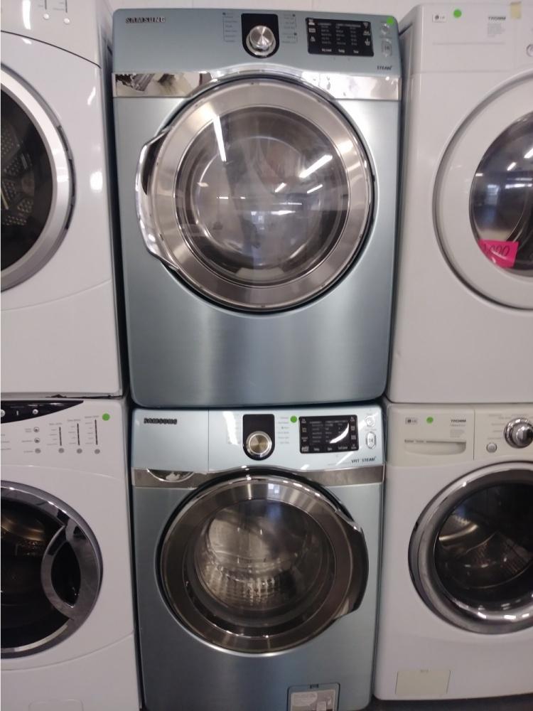 Samsung Light Blue Front Loading Washer W Gas Dryer Set