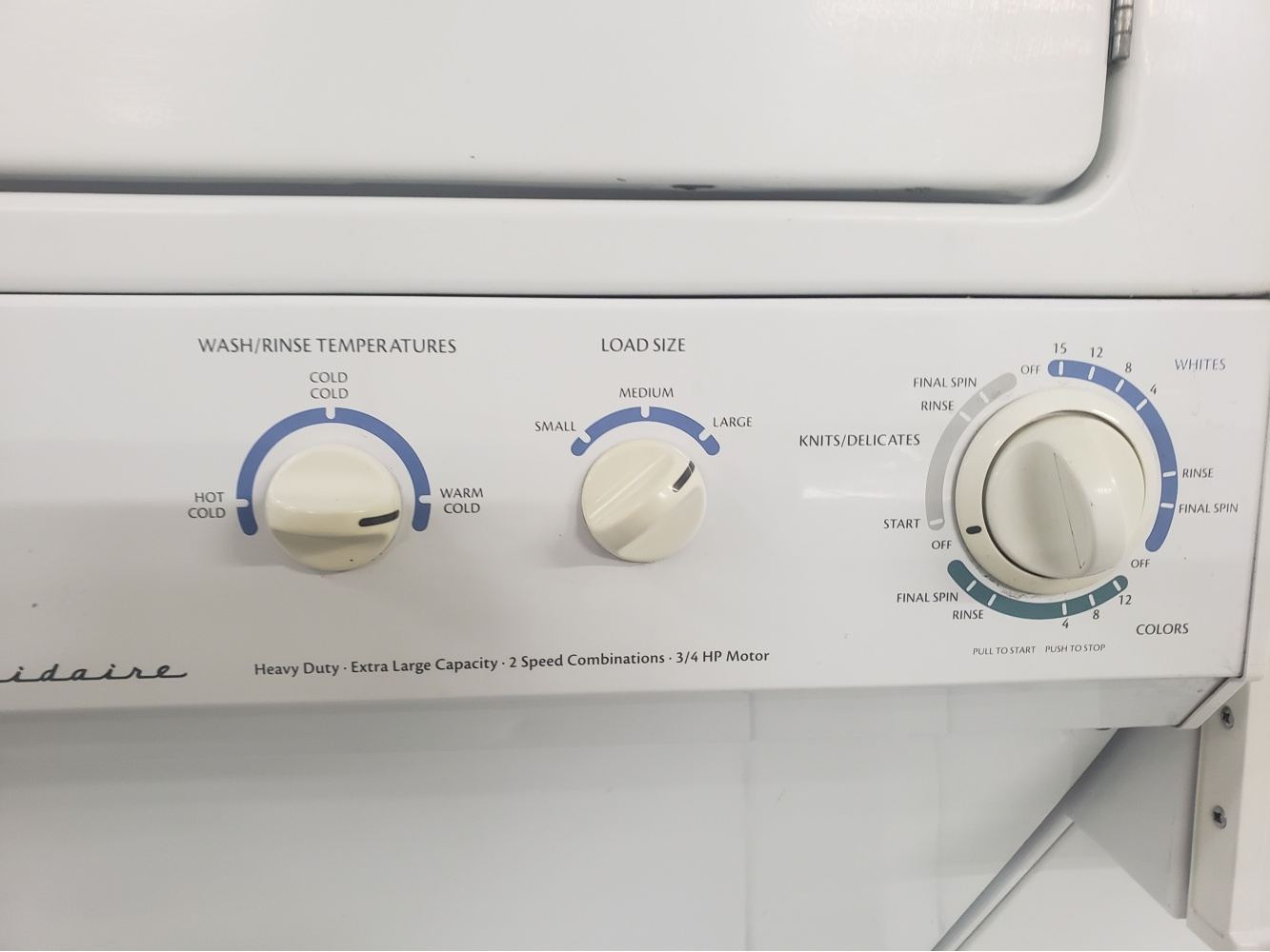 Frigidaire Top Loading 27 Laundry Center Gas Dryer
