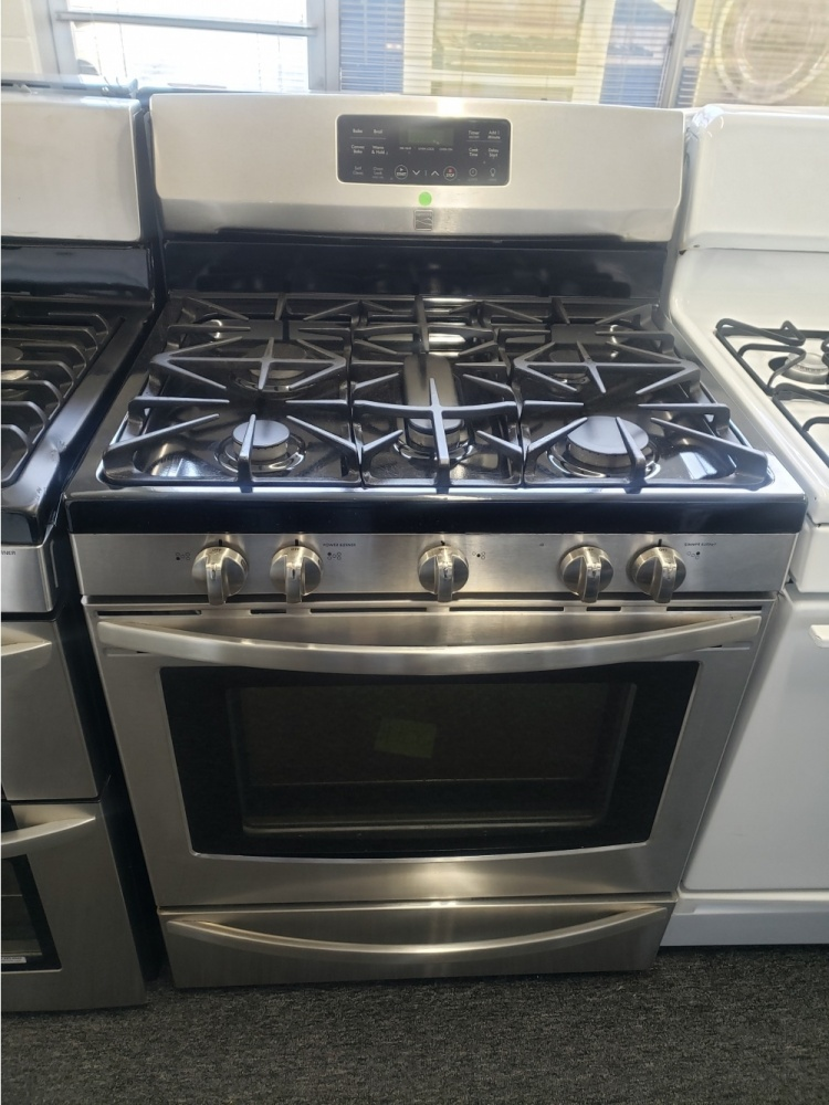 KENMORE STAINLESS STEEL 5 BURNER 30'' GAS RANGE ***OUT OF