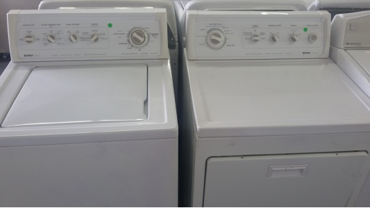 kenmore 90 series washer w gas dryer set out of stock
