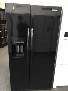 KITCHENAID GLOSSY BLACK SIDE BY SIDE COUNTER DEPTH FRIDGE *OUT OF STOCK*