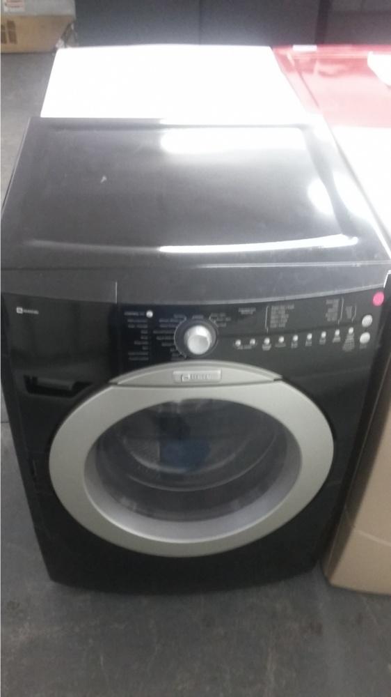 black front load washing machine