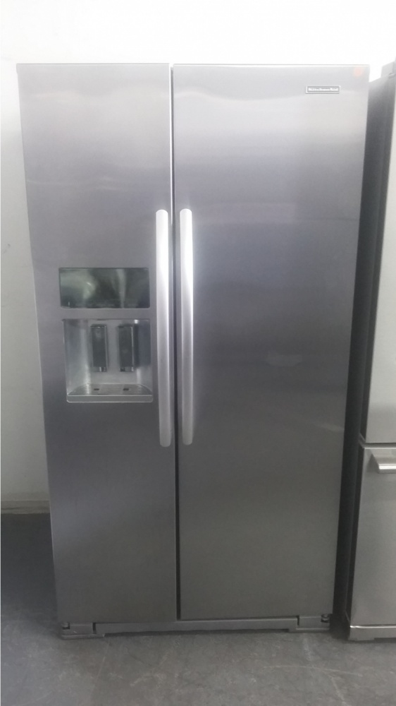 kitchenaid stainless steel counter depth side by side 36
