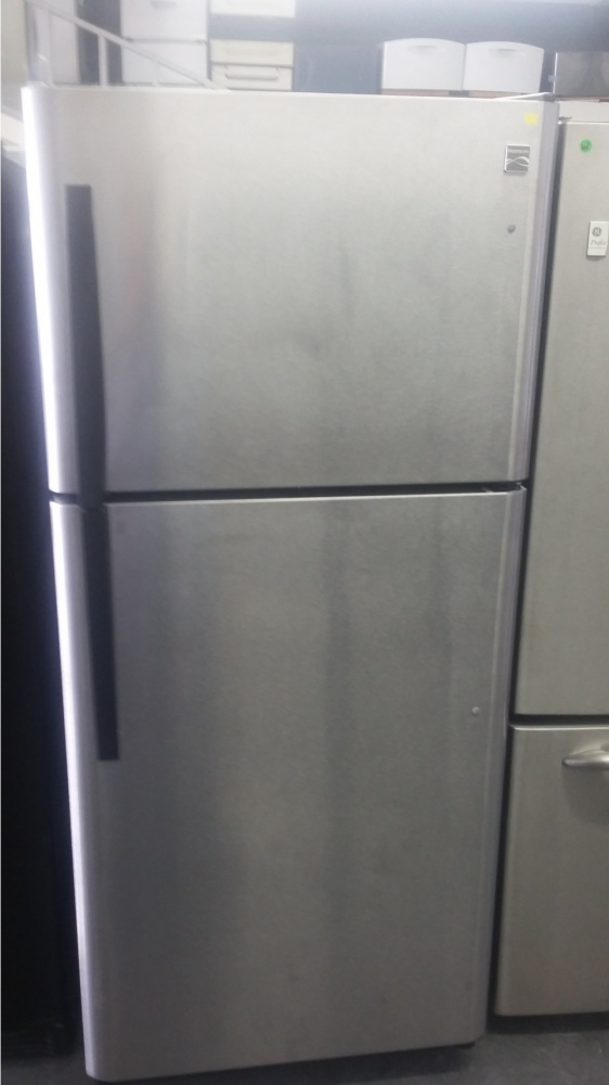 kenmore 30 stainless steel top mount fridge out of stock