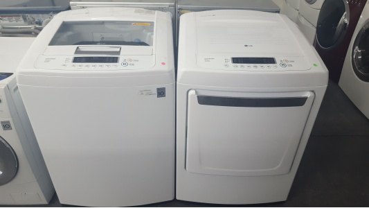 lg he top load washer and gas dryer out of stock