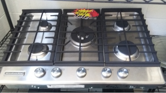 KITCHENAID STAINLESS STEEL 5 BURNER GAS COOKTOP *OUT OF STOCK*
