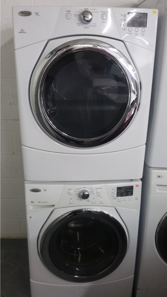 Whirlpool Duet White Front Load Washer And Gas Dryer Set