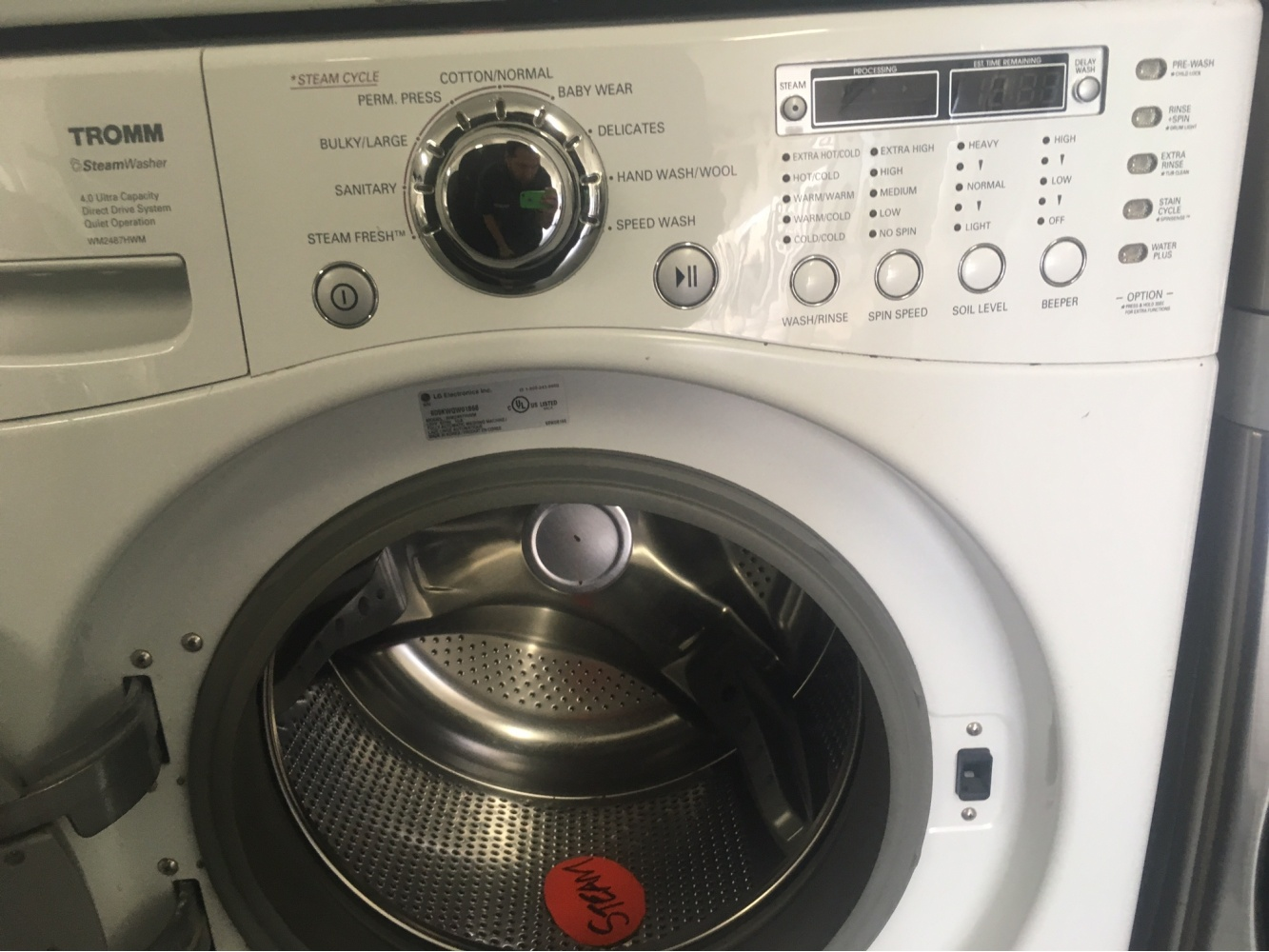 Lg Tromm Front Loading Steam Washer And Gas Dryer Out Of