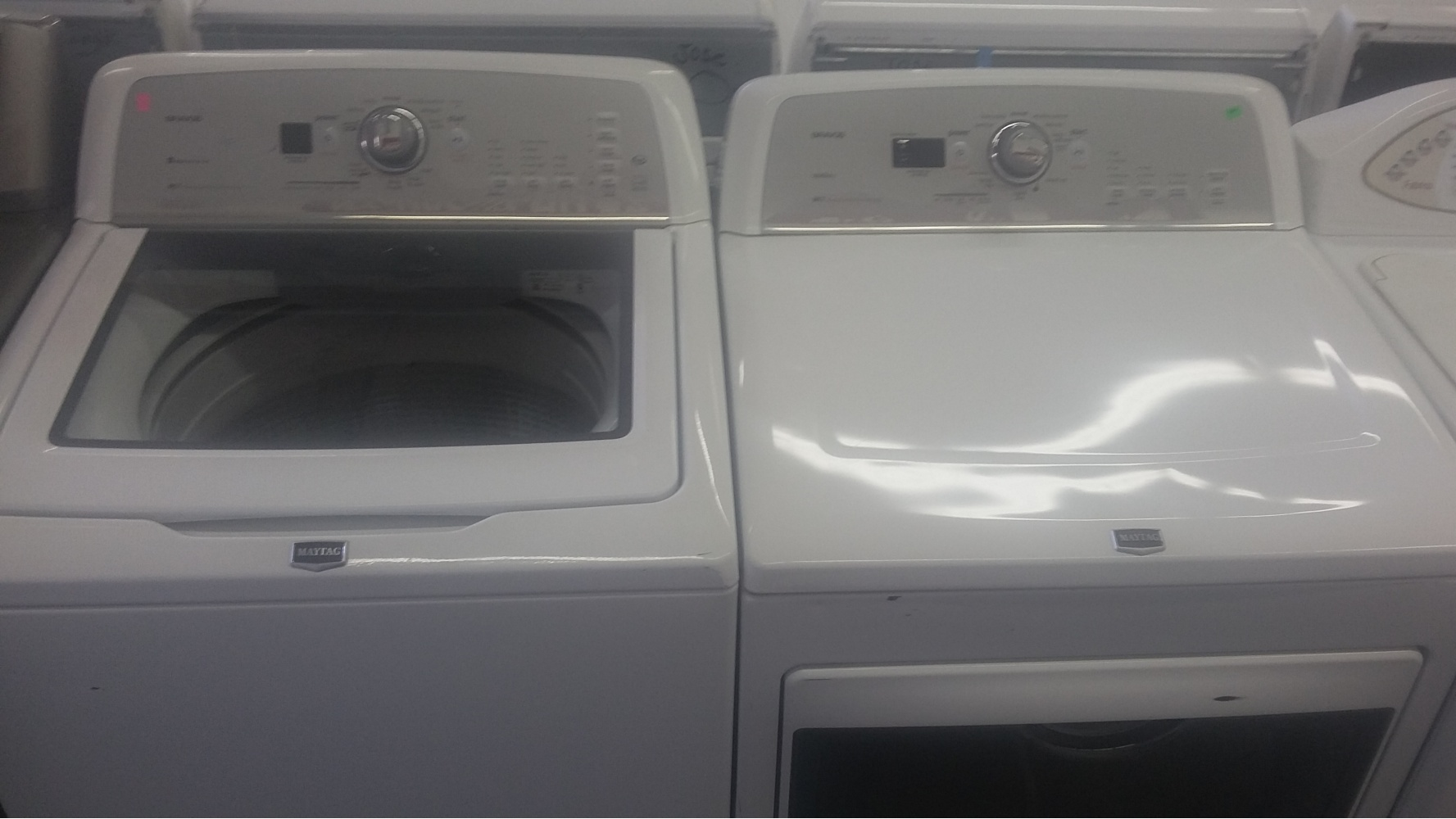Maytag Bravos High Efficiency Top Load Washer W Gas Dryer