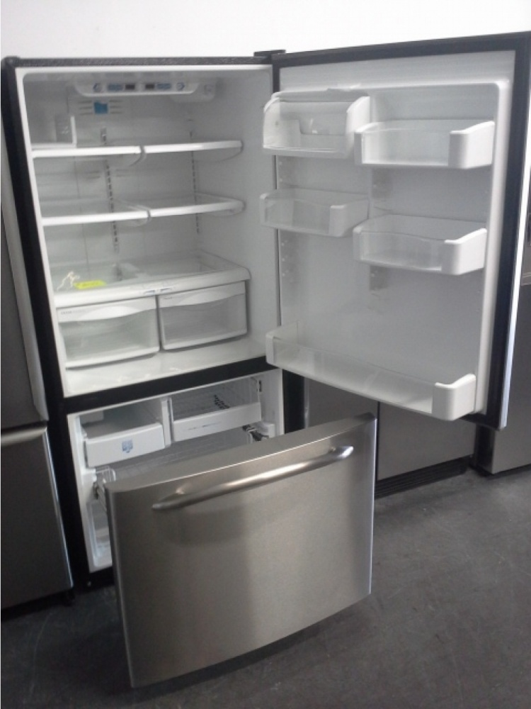 Ge Profile Stainless Steel Bottom Mount Fridge Out Of