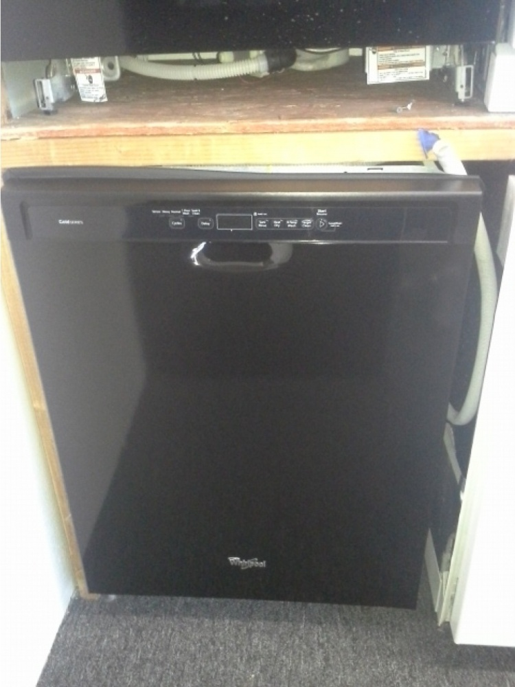 Whirlpool Gold Black Dishwasher With Stainless Tub Out Of