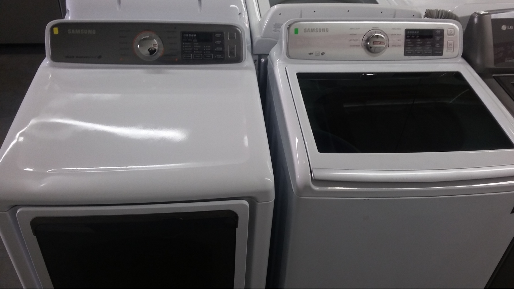 Samsung White Grey High Efficiency Top Load Washer W Gas