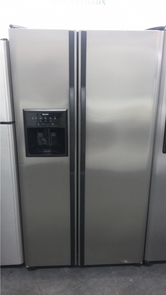 Kenmore Stainless Steel 36 Side By Fridge W Black Handles Out Of Stock Kimo S Liances Van Nuys