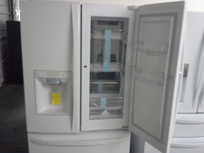 Kenmore Elite White French Door Fridge With Grab N Go