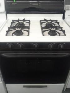 Magic Chef Black Amp White 4 Burner Gas Range Out Of Stock