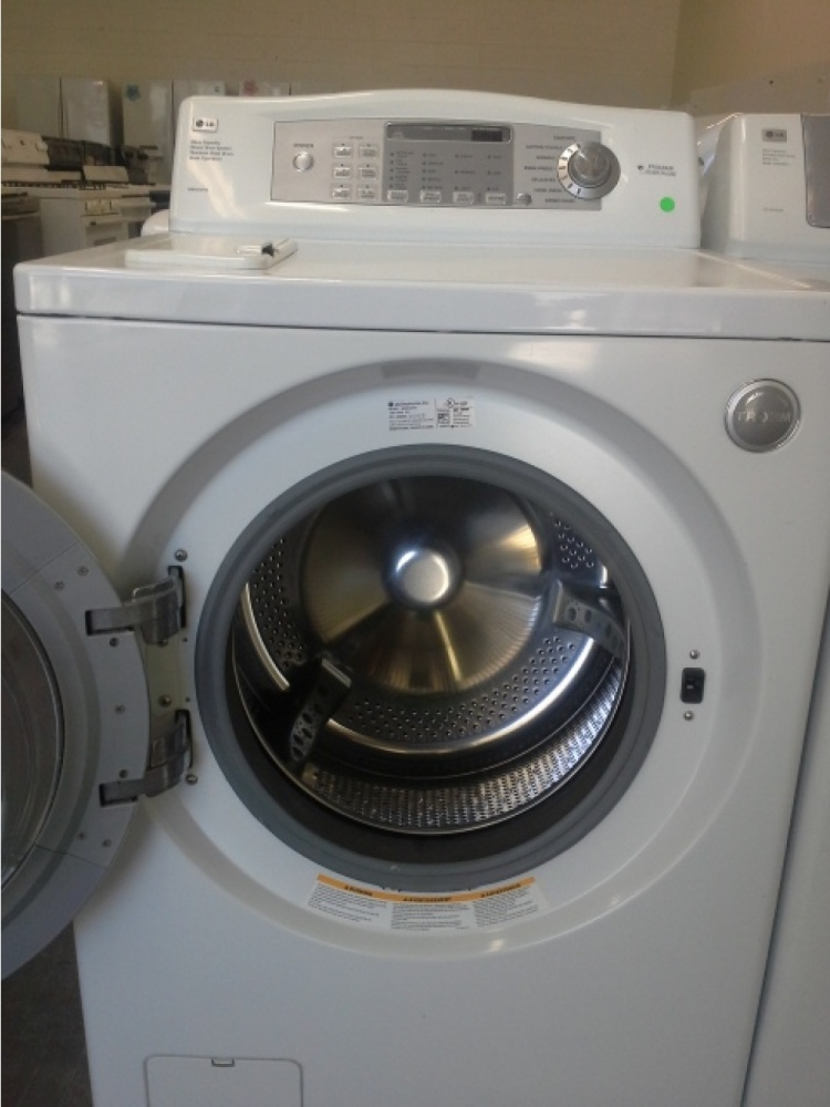 Lg Tromm White Front Load Washer W Gas Dryer Set Out Of
