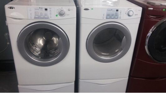 Maytag Amana Front Load Set On Pedestals Out Of Stock